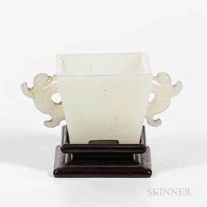 Small Pale Jade Glass Censer