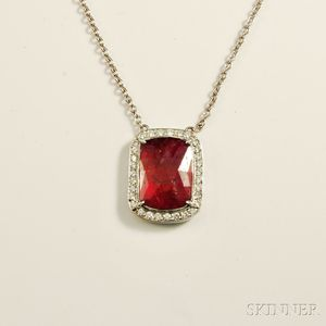 18kt White Gold and Ruby Necklace