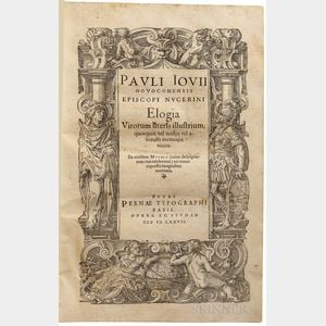 Giovio, Paolo (1483-1552) Elogia Virorum Literis Illustrium.