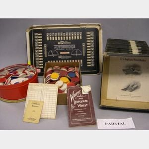 Group of Assorted Board and Card Games with Accessories.