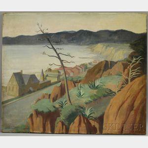 Margaret Anna Dobson (American, 1888-1981)      Coastal Landscape