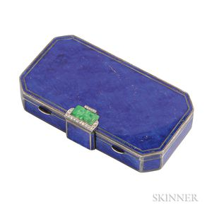 Art Deco Enamel and Minaudiere, Cartier