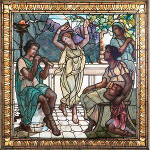 Large Mosaic Glass Window