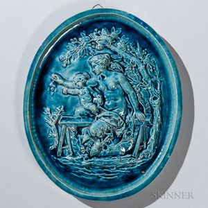 Chelsea Keramic Art Works Oval Faun Tile