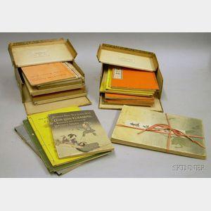 (Japanese Art), Approximately Twenty-six Japanese Woodblock Art Pamphlets.