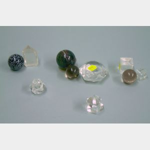 Ten Rock Crystal and Glass Items