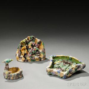 Three Enameled Ceramics