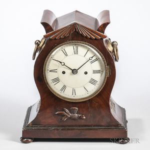 F&A Harwood Double Fusee Bracket Clock