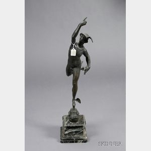 "French Bronze ""Grand Tour"" Figure After Giambologna's Mercury"