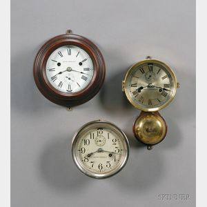 Three Seth Thomas Ship's Bell Wall Clocks