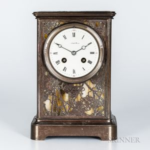 Tiffany Studios Grapevine-pattern Mantel Clock