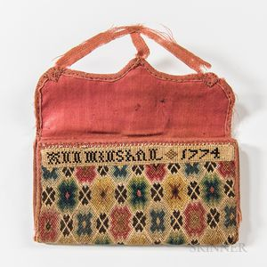 """Ann Minshall 1774"" Flame-stitch Wallet"