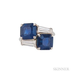 Important Sapphire and Diamond Ring, Cartier