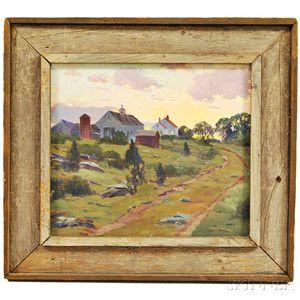 Charles Gordon Harris (American, 1891-1963)      Landscape with Farm at Dusk