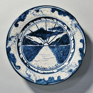 Dedham Pottery Golden Gate Plate