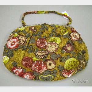 Large Beaded Vintage Handbag.
