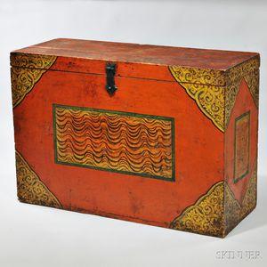 Covered Wood Storage Box
