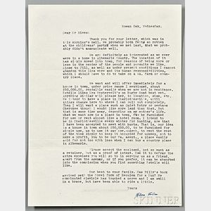 Faulkner, William (1897-1962) Typed Letter Signed, 23 April 1957.