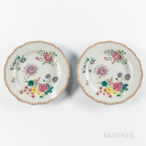 Pair of Export Porcelain Plates