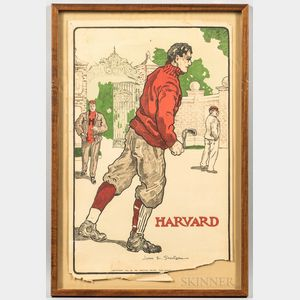 Five College Football Lithographs
