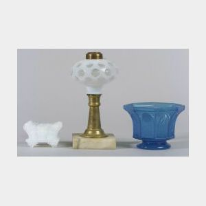 Seven Assorted Colored Glass Items
