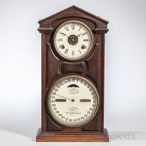 Ithaca No. 7 Calendar Shelf Clock