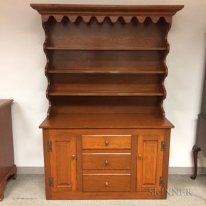 Wallace Nutting Pine Step-back Cupboard