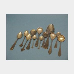 Twelve Miscellaneous Silver Plated Spoons.