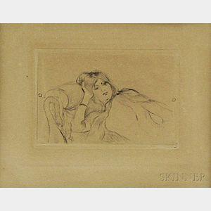 Berthe Morisot (French, 1841-1895)      Jeune fille au repos