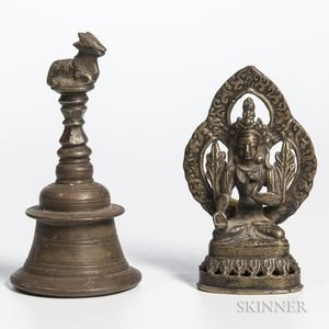 Two Bronze Buddhist Items