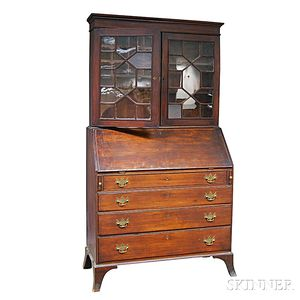 Federal Inlaid Mahogany Desk/Bookcase