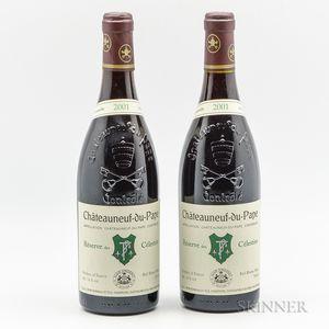 Henri Bonneau Chateauneuf du Pape Reserve desCelestins 2001, 2 bottles