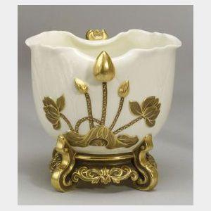 Worcester Porcelain Lotus-form Bowl