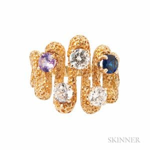 18kt Gold Gem-set Ring