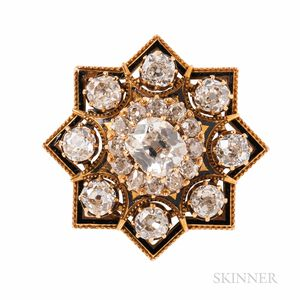 Antique Gold and Diamond Pendant/Brooch