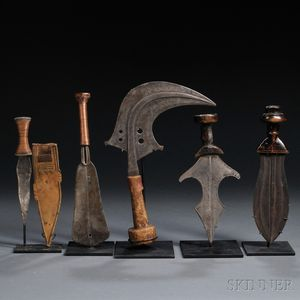 Five African Knives
