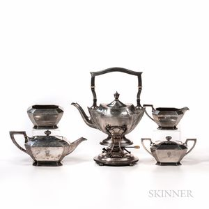 Assembled Gorham Five-piece Sterling Silver Tea Service