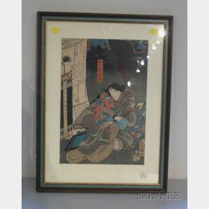 Toyokuni III (Kunisada):  Woodblock Print