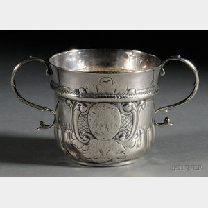 Queen Anne Silver Caudle Cup