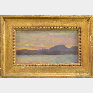 Philip Goodwin (American, 1881-1935)      Mountain Lake at Sunset