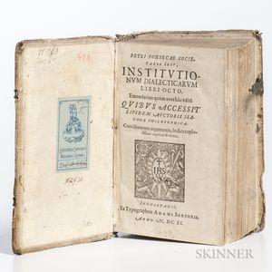 Fonseca, Pedro da (1528-1599) Institutionum Dialecticarum Libri Octo.