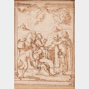 Italian School, 17th/18th Century      Apostles Healing the Afflicted