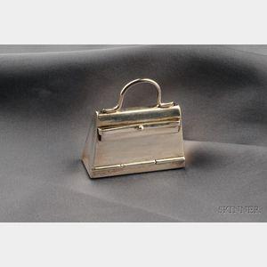 """Sterling Silver """"Kelly Bag"""" Pillbox, Hermes"""