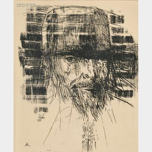 Leonard Baskin (American, 1922-2000)      Donatello, Italian, d. 1466