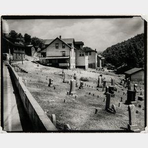 Walker Evans (American, 1903-1975)       Houses and Graveyard, Rowlesburg, West Virginia