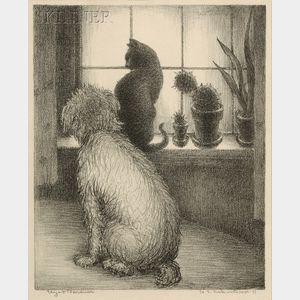 Eliza Draper Gardiner (American, 1871-1955)      Waiting by the Window