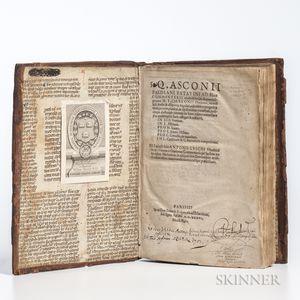 Asconius Pedianus, Quintus (c. 9 BC-c. AD 76) Commentarii Eruditissimi, in Aliquot Insigniores M.T. Ciceronis Orationes.