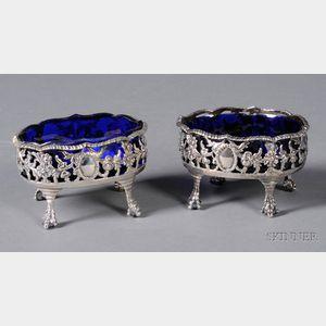 Pair of George III Silver Open Salts