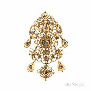 Antique Gold and Diamond Pendant