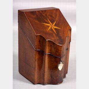 Mahogany Inlaid Knife Box